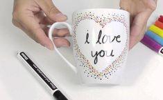 tasse personnalisée avec coeur et message d'amour