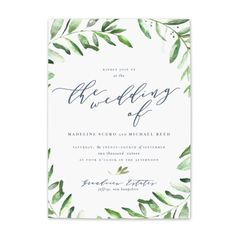 olive branch wedding invitations by Blush Paper Co.