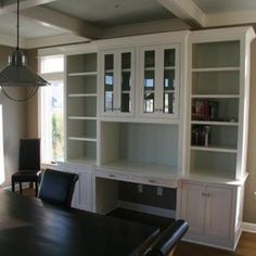 Built-In Desk custom made by Brandon Parrow Cabinetmakers
