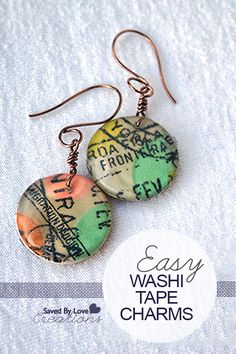 Make Washi Tape Jewelry and Charms