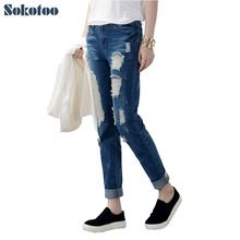 {Get it here ---> https://tshirtandjeans.store/products/sokotoo-hot-sale-womens-ripped-jeans-fashion-boyfriend-jeans-for-woman-loose-plus-size-hole-denim-pants/|    Fresh arriving Sokotoo Hot sale Women's ripped jeans Fashion boyfriend jeans for woman Loose plus size hole denim pants now available for sale $US $19.90 with free postage  you can purchase this unique product together with much more at our site      Get it today here…