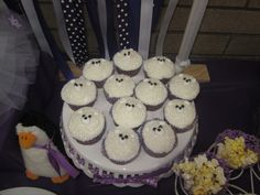 "Photo 1 of 38: winter, snowmen, snowflakes, purple and white / Birthday ""Ciara's Winter ""One""derland"" 