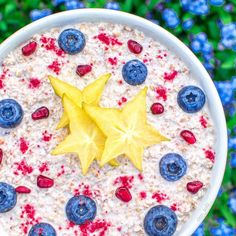 Oaties and me--> big big love . I think I ate around 15 kg oats over the last week . Here you can see glutenfree fruity raspberry oats . I used @provamel coconut almond milk and added spice for life raspberry powder from @nu3_de .  Topped it with blueberries and starfruit . I tried to eat highcarb lowfat for a few days now. I nearly never reached 801010 though and honestly can't unterstand how one does  I was around 3000 calories most days and had like 60% (-70) carbs and 20/20 % fats and…