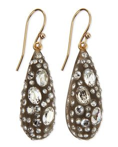 Crystal Dusted Dewdrop Earrings by Alexis Bittar at Neiman Marcus.