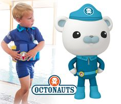 New for an Octonauts-branded Captain Barnacles Floatsuit. Sound the Octo-Alert! Baby Swimwear, Learn To Swim, Swimming Outfit, Class B, Learning, Pretty, Collection, Professor, Teacher