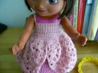 Lo How a Rose Ere Blooming…15 inch Doll-link to crown - Free Original Patterns - Crochetville