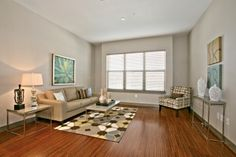 Check out this great living space. More photos at www.Uptown101.com! #3636MckinneyApartments #UptownDallasApartments