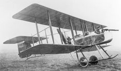 """The first """"pusher"""" to enter service during WWI was the Vickers Fighting Biplane 5. A two-seater, it was the first aircraft specifically designed as a fighter for the Royal Flying Corps. The first F.B.5 to reach France was delivered to 2 Squadron in February 1915 and 11 Squadron was equipped with F.B.5s in July 1915. Also known as the Vickers """"Gunbus,"""" it was armed with a moveable, forward-firing machine gun but it was vulnerable to attack from the rear."""