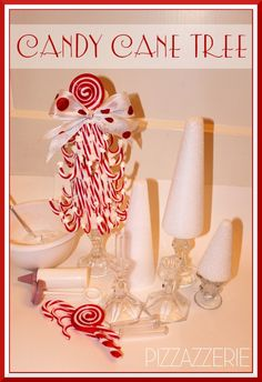 Candy Cane tree......love the idea of using plastic canes......any ideas on what to use instead of icing to attach canes so the tree could be packed up and used again next year? Come on my creative friends..HELP!