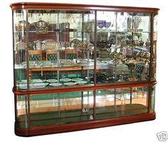 395 Antique French Mahogany Glass Display Cabinet . eBay