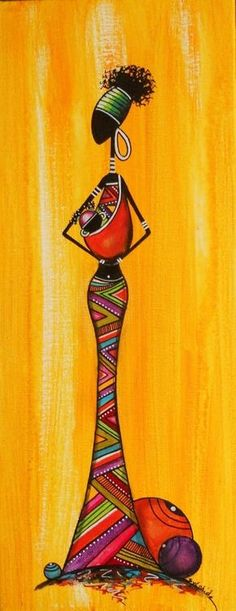 No artist found, African Black Art Painting, Fabric Painting, Arte Tribal, Tribal Art, Afrique Art, African Art Paintings, Arte Country, Art Premier, Afro Art