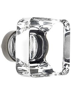 Square crystal knobs - great for Mid-Century kitchens!