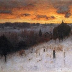 George Inness Winter Evening hand painted oil painting reproduction on canvas by artist Nocturne, Hudson River School, Oil Painting Reproductions, Winter Art, Winter Landscape, Famous Artists, Oeuvre D'art, American Artists, Painting Inspiration