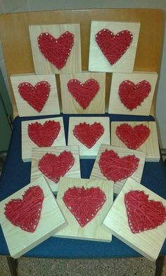 Naulasydän Diy And Crafts, Crafts For Kids, Arts And Crafts, Heart Art, Spring Crafts, String Art, Valentines Day, Woodworking, Textiles