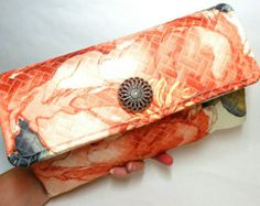 Floral clutch purse  envelope clutch   fabric handmade bag
