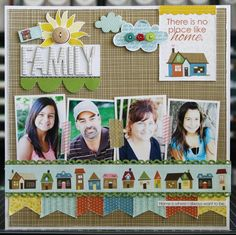 Layout: Family by Laura Vegas featuring the Thankful Collection from Bella Blvd
