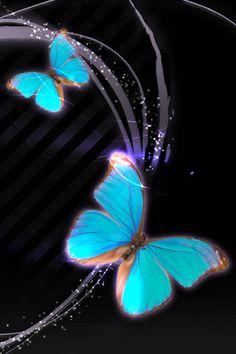 Animated Gif by carmenmbonilla Butterfly Gif, Butterfly Background, Butterfly Pictures, Butterfly Watercolor, Purple Butterfly, Iphone 6 Wallpaper, Flower Phone Wallpaper, Butterfly Wallpaper, Cellphone Wallpaper