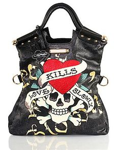 d5fdbb3a18d1 Love kills slowly Ed Hardy bag Best Purses