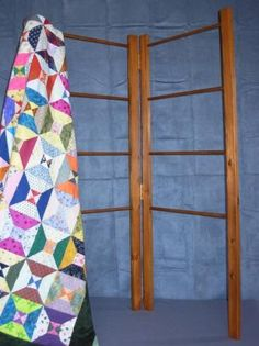 folding quilt rack pattern--I like how this idea can double as a space divider