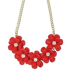 """Women's Statement Necklace - Coral/Gold (18"""") : Target Mobile"""