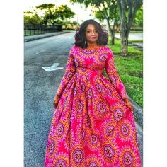 African Dress Patterns, African Print Dress Designs, African Print Dresses, African Fashion Dresses, Long Sleeve Maxi, Maxi Dress With Sleeves, Nigerian Outfits, African Fashion Traditional, Angel Warrior