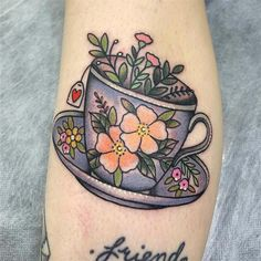 I genuinely am keen on the shades, outlines, and depth. This really is the perfect concept if you really want a Teapot Tattoo, Cup Tattoo, Get A Tattoo, Back Tattoo, Tattoo Shop, Sketchy Tattoo, Vegan Tattoo, Coffee Tattoos, Large Tattoos
