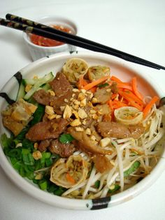 Vietnamese Bun Cha Gio'   A Spicy Perspective.    Another one of my favorite dishes I can't wait to make at home.