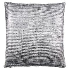 Maddison Metallic Knitted Oversized Cushion. A luxurious cushion with metallic knitted effect woven onto its face. Buy cushions and soft furnishings at B&M