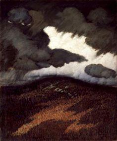 'Storm Clouds, Maine' by American Modernist painter Marsden Hartley (1877-1943). via wahoo art