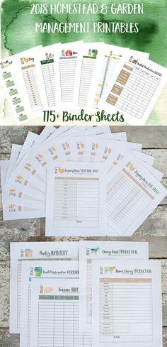 2018 Printable Homestead Management Binder and Garden Planner #ad #homesteading #gardening #planner