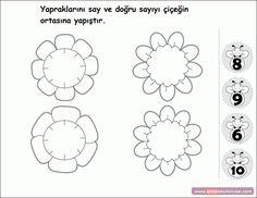 Çiçekli Sayı Eşleştirme - Önce Okul Öncesi Ekibi Forum Sitesi - Biz Bu İşi Biliyoruz
