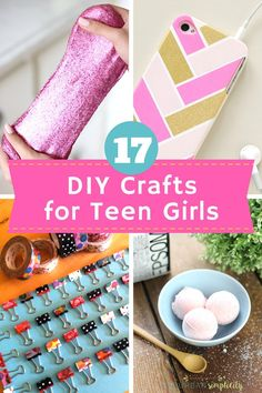 Looking for some fun DIY Crafts for Teens Girls? Look no further, these crafty… Looking for some fun DIY Crafts for Teens Girls? Look no further, these crafty ideas are creative, cute and totally doable! Grab your supplies and let's get making! Kids Crafts, Teen Girl Crafts, Diy Crafts For Teen Girls, Diy And Crafts Sewing, Fun Diy Crafts, Creative Crafts, Craft Projects, Cute Diys For Teens, Arts And Crafts For Teens
