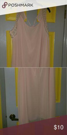 Baby pink dress A baby pink chiffon dress sleeveless Cato Dresses Mini