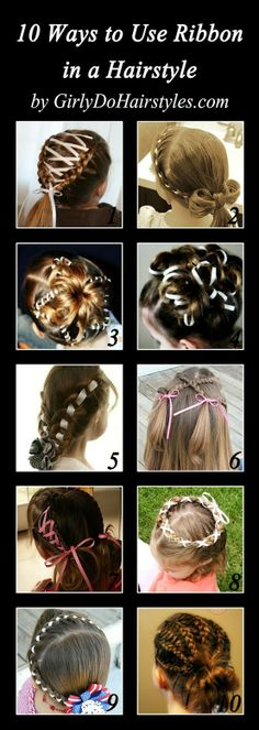 10 Styles with Added Ribbon - Click image to find more Hair & Beauty Pinterest pins