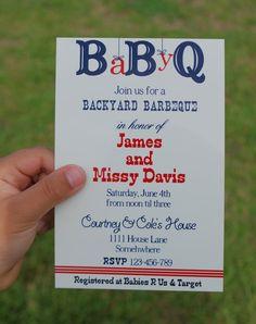Printable Baby Shower BBQ Invitations by LittleMissCustom on Etsy, $10.00