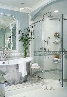 Beautiful master bathroom interior design and decor....