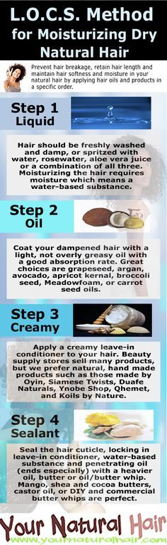 Moisturize Your Hair Using the L.O.C.S. Method - Your Natural Hair [Beauty care maintenance]