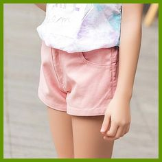2016 Summer Girls Denim Shorts Kids Pink Shorts for Teen Girls Age 5 6 7 8 9 10 11 12 13 14T Years Old Children's New Clothing