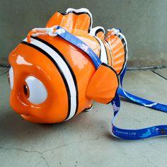 Nemo Popcorn Bucket - His eyes move and it has his adorable lucky fin