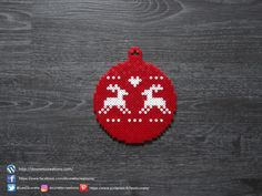 Boule de Style Scandinave Perles Hama / Scandinavian Christmas Tree Ball Perler Beads Hama Beads Design, Diy Perler Beads, Perler Bead Art, Pearler Beads, Diy Deco Rangement, Scandinavian Christmas Trees, Christmas Perler Beads, Pearler Bead Patterns, Craft Patterns
