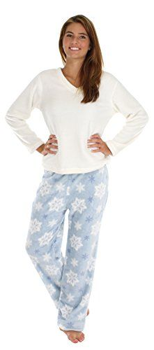 These fleece pjs are soft, warm, and super comfortable, you won't want to take them off!! This comfortable 2 piece fleece set includes a coordinati...