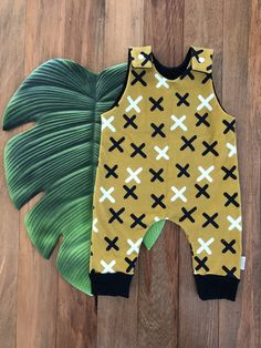 Mustard X Romper Easy Wear, Cute Kids, Mustard, Rompers, Knitting, Cotton, How To Wear, Clothes, Dresses