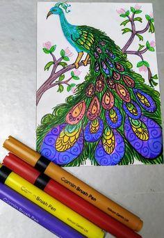 Clay Art, Peacock, Ink, Peacocks, India Ink, Peafowl