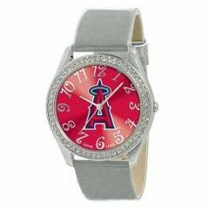 Ladies Los Angeles Angels MLB Glitz Silver Watch Sports Fashion Jewelry by MLB. $68.99. Features: Designed for Ladies Metal case with 50 crystal stones Patent leather strap Brass dial Stainless steel buckle caseback and crown Japan quartz movement Water resistant to 3 ATM