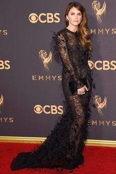 See All the Stars on the 2017 Emmys Red Carpet - Keri Russell from InStyle.com