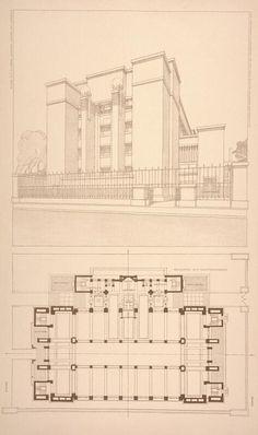 Frank Lloyd Wright sketches