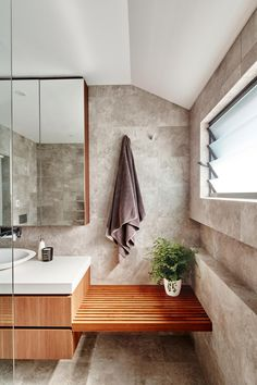 How to create a bathroom with a beach house vibe.