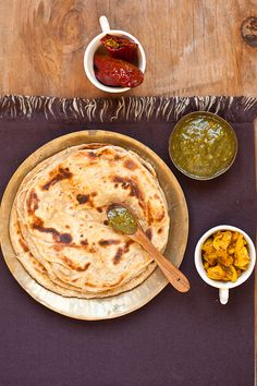 Lachha paratha (layered indian pan-fried bread) - great to serve with soup