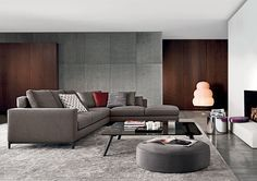 Find out all of the information about the Minotti product: modular sofa / contemporary / fabric / leather ANDERSEN / ANDERSEN QUILT. Sofa Design, Flur Design, Hall Design, Deco Design, New Living Room, Home And Living, Living Spaces, Home Interior Design, Interior Architecture