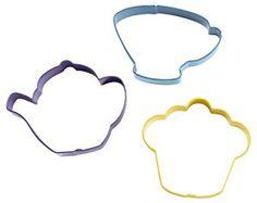 Wilton Three-Piece Tea Party Cookie Cutter Set - Multi-Colour: Amazon.co.uk: Kitchen & Home